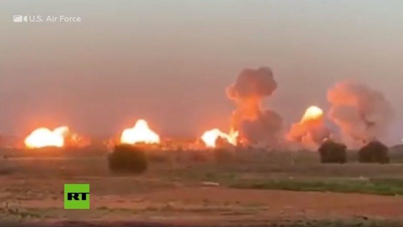 """El antes y después de una isla """"ocupada"""" por terroristas del EI sobre la cual EU lanzó 36 toneladas de bombas"""