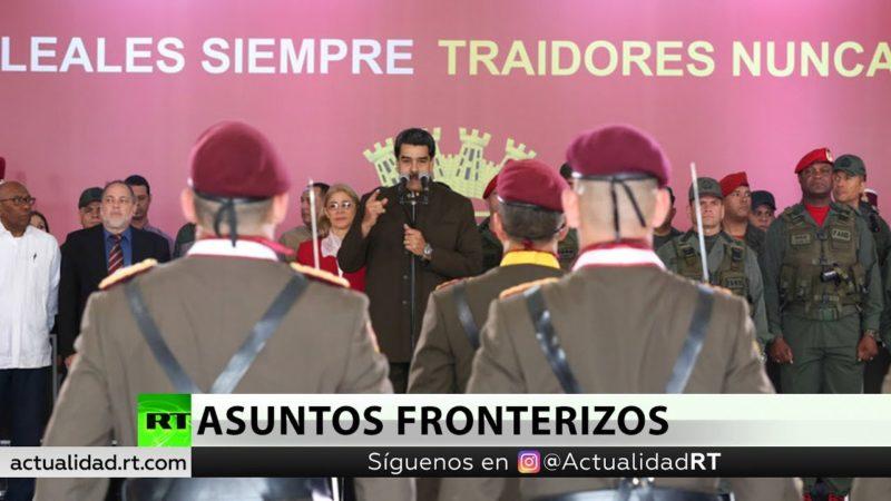 """Videos: Maduro ordena ejercicios militares en la frontera ante la """"amenaza de agresión"""" de Colombia"""