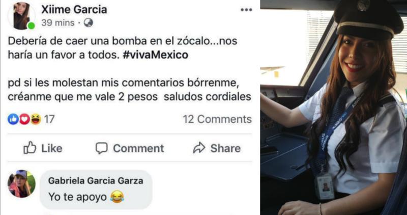Una piloto de Interjet propuso lanzar una bomba en el Zócalo durante el 'Grito'; la aerolínea abre una investigación