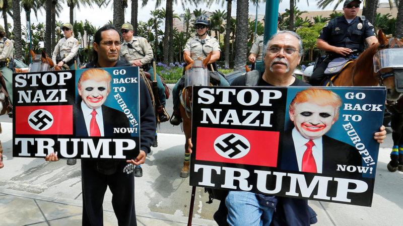 Protestas contra la visita de Trump a California donde es antipopular