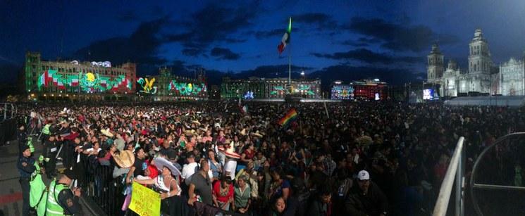 En vivo, el festival: Miles en el Zócalo disfrutan de la algarabía por la Independencia