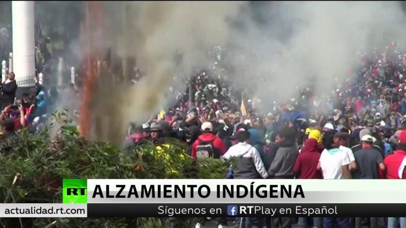 Movimiento indígena de Ecuador en huelga general contra el 'paquetazo'