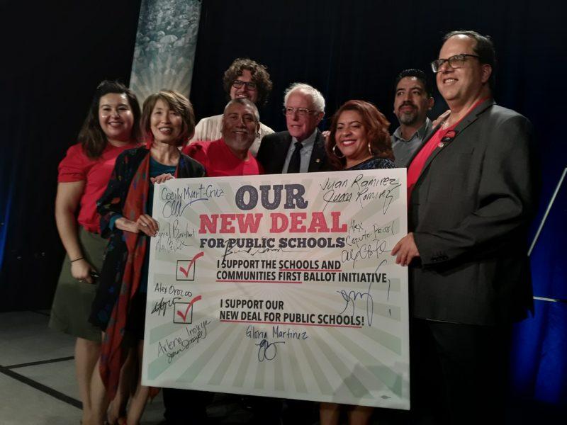 El Sindicato de Maestros de Los Angeles expresa su respaldo al aspirante presidencial Bernie Sanders para las elecciones primarias del 2020