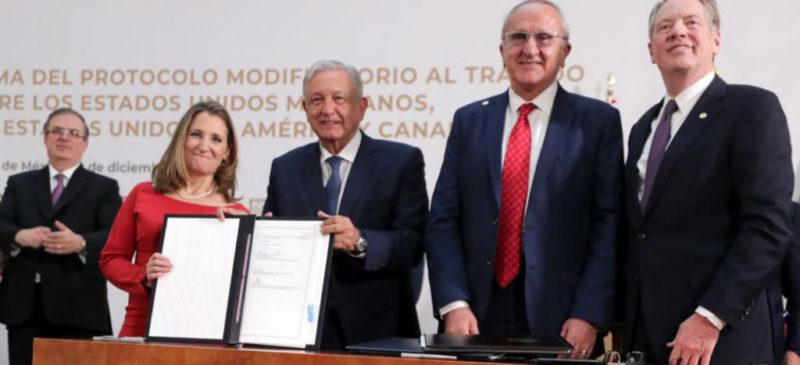 Con T-MEC, más inversión y dimensión social, dice López Obrador