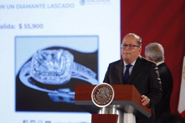 Oro blanco, Ferrari y Lamborghini, en nueva subasta en Los Pinos, este fin de semana