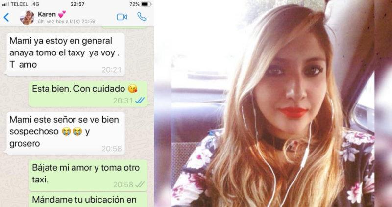 """""""Mami este señor se ve sospechoso"""", dijo Karen antes de desaparecer a bordo de un taxi enla Ciudad de México"""