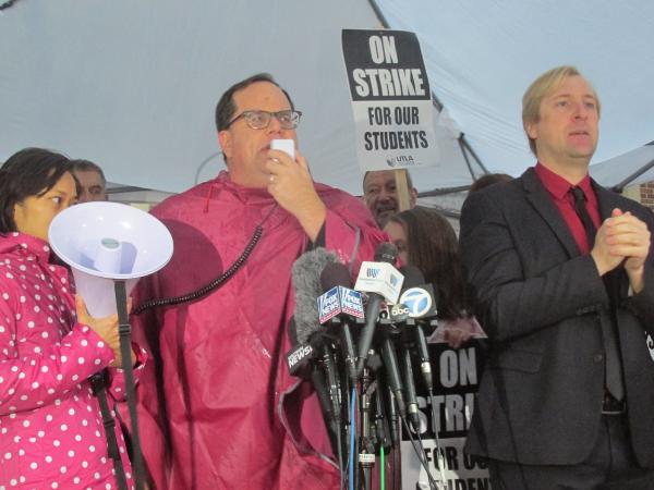 """El 14 de enero del 2019 estalló la huelga de maestros bajo el grito: """"Es la lucha por la educación pública"""". La lluvia y el frío no ahuyentaron a la multitud, más bien parecieron convocarla"""