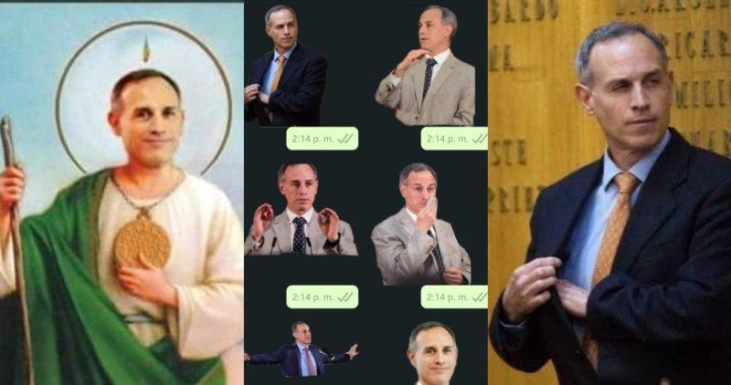 El Subsecretario de Salud, Hugo López-Gatell, ya es viral: tiene MEMES, stickers de WhatsApp y hasta estampitas religiosas