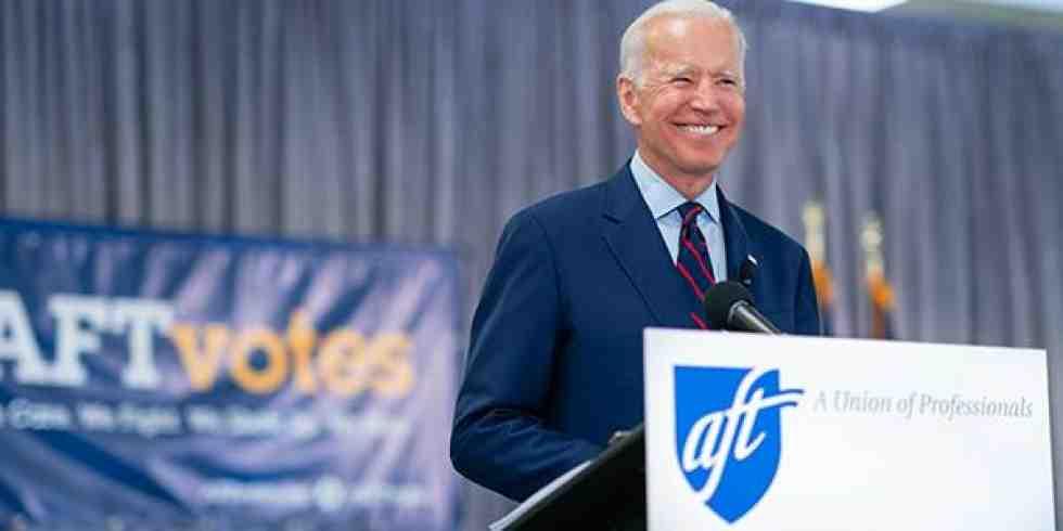 La Federación Americana de Maestros, con más de 1.5 millones de miembros, respalda a Joe Biden como candidato presidencial demócrata