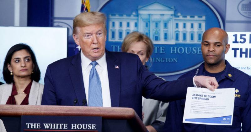 El Dow Jones tiene su peor caída en 3 décadas, hasta -13%, y Trump alerta de la recesión que se viene