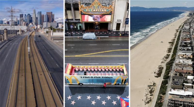Fotos: Los Angeles, de la meca de estrellas a pueblo fantasma por el coronavirus