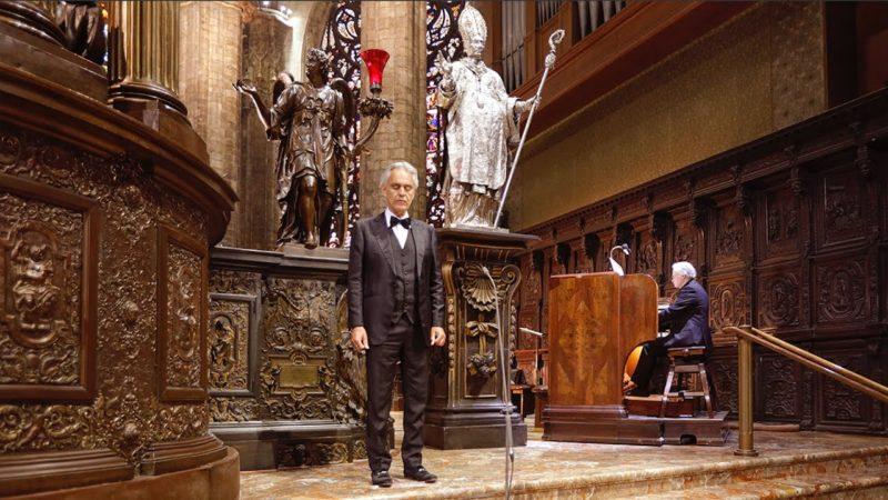 Video: Concierto de Andrea Bocelli en la Catedral de Milán, el pasado domingo