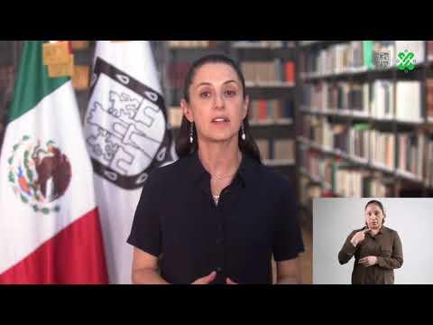 Claudia Sheinbaum Pardo, Jefa de Gobierno de laCiudad de México: Quédate en casa, no son vacaciones. Salva vidas. Es una pandemia mundial