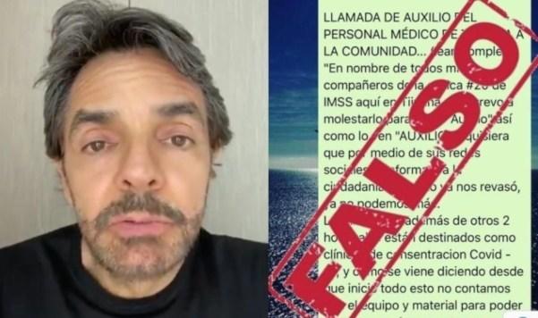 Videos: El IMSS desmiente a Eugenio Derbez: difundió falsedades al decir que faltaban medicinas contra Covid-19 en clínicas de Tijuana