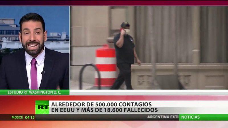 Videos: EU, primer país con más de 2.000 muertes porCOVID-19 en un día