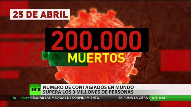 Videos: Los contagios por coronavirus en el mundo superan los tres millones