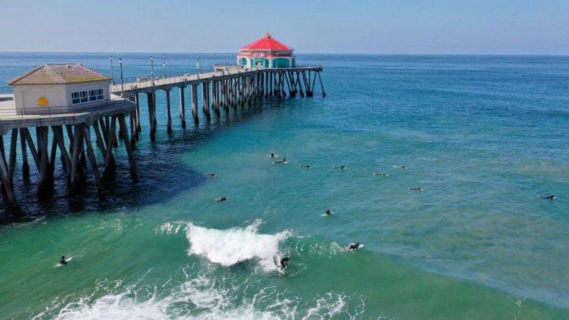 """Pocos bañistas en las playas de Orange. """"La gente está cooperando"""", dijeron autoridades"""