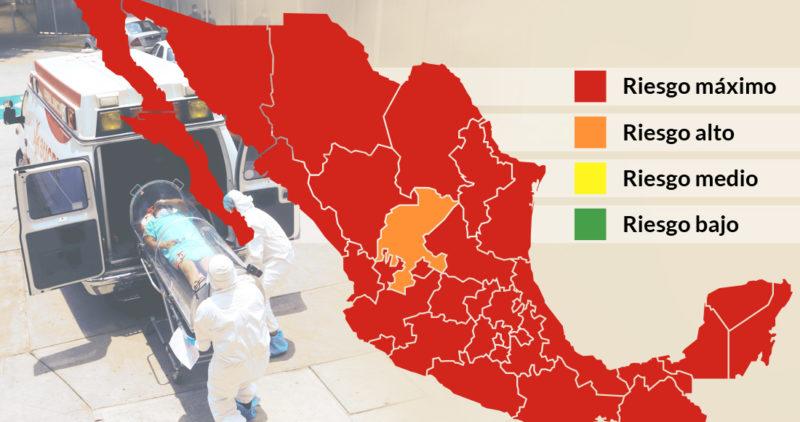 Video: Con México en alto riesgo (rojo), excepto Zacatecas, el gobierno federal reactivará la economía