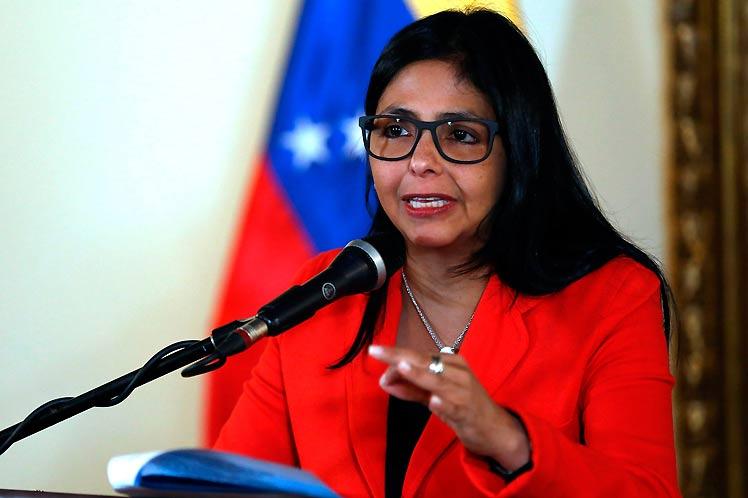 China apoya a Venezuela ante medidas coercitivas unilaterales de EU, destaca la vicepresidenta Delcy Rodríguez