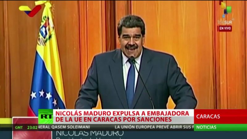 Videos: Maduro le da 72 horas a la embajadora de la Unión Europea en Caracas para que abandone el país