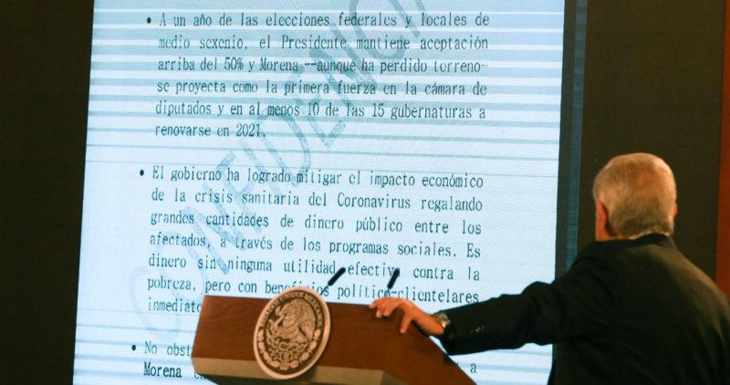 """DOCUMENTO: AMLO acusa complot de un """"Bloque Opositor"""" que se apoya en medios, partidos, redes…"""