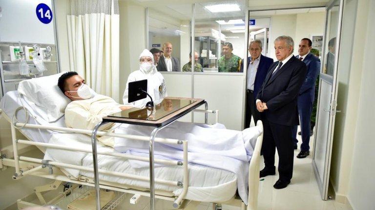 """""""Era un simulacro"""": ISSSTE aclaró fotos de AMLO sin protección contra el COVID-19 en un hospital de Morelos"""
