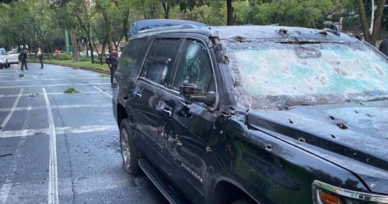 Videos : Atentado contra el titular de Seguridad Pública de la Ciudad de México. Está herido. Murieron tres personas. Culpa al Cartel Jalisco Nueva Generación.