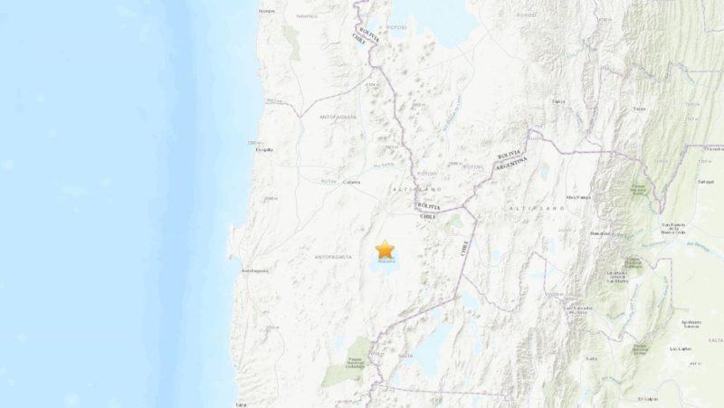 Sismo de magnitud 6,8 sacude el noroeste de Chile
