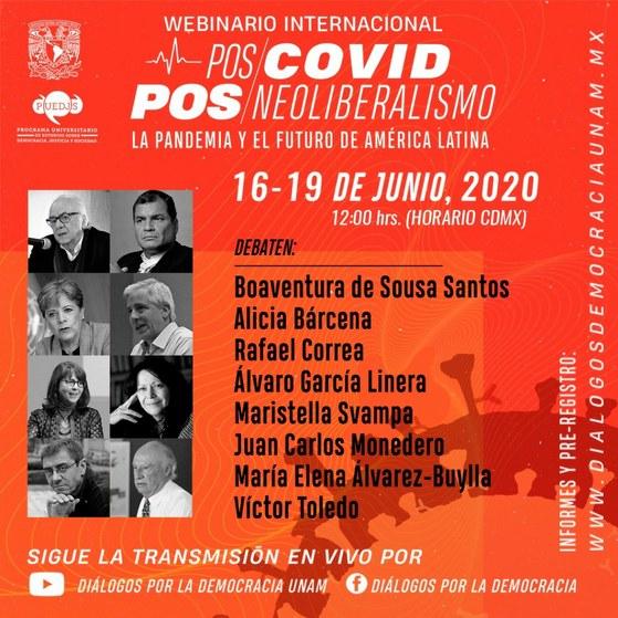 UNAM convoca a webinario sobre transformación política de América Latina después del Covid-19