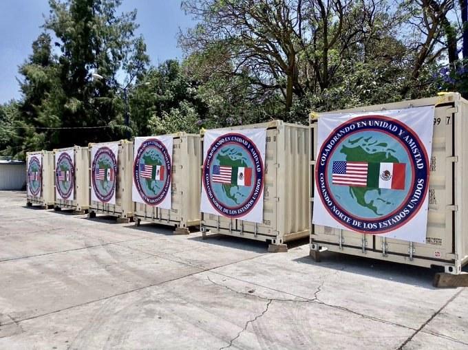 Dona EU a México hospital portátil para atender Covid-19
