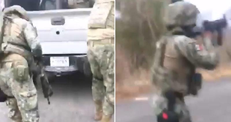 Emboscada contra marinos y GN: uno de los oficiales graba VIDEO del ataque armado en Michoacán