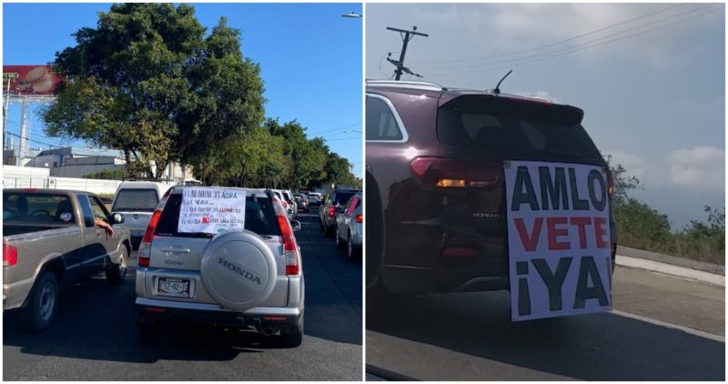 Derechistas vuelven a manifestarse contra AMLO en diversas partes del país. Quieren que se vaya