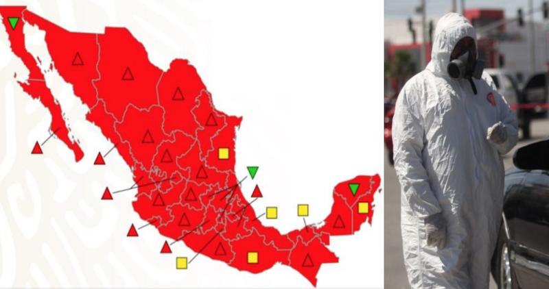 Video: Zacatecas se pinta con semáforo rojo, y los 32 estados quedan en riesgo máximo del 8 al 14 de junio. Piden que ciudadanos se queden en casa