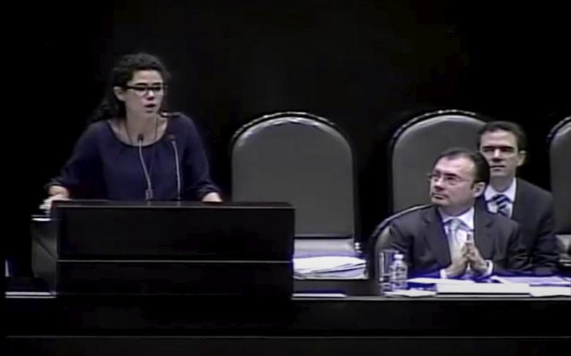"""Video: La hoy Secretaria del Trabajo, Luisa Alcalde, a Videgaray cuando era diputada en 2013: """"¿Puede negar que la reforma energética servirá para enriquecer a su grupo?"""""""
