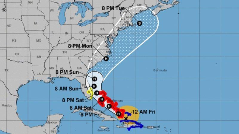 La tormenta tropical Isaías, que se acerca a Florida, se convierte en huracán de categoría 1