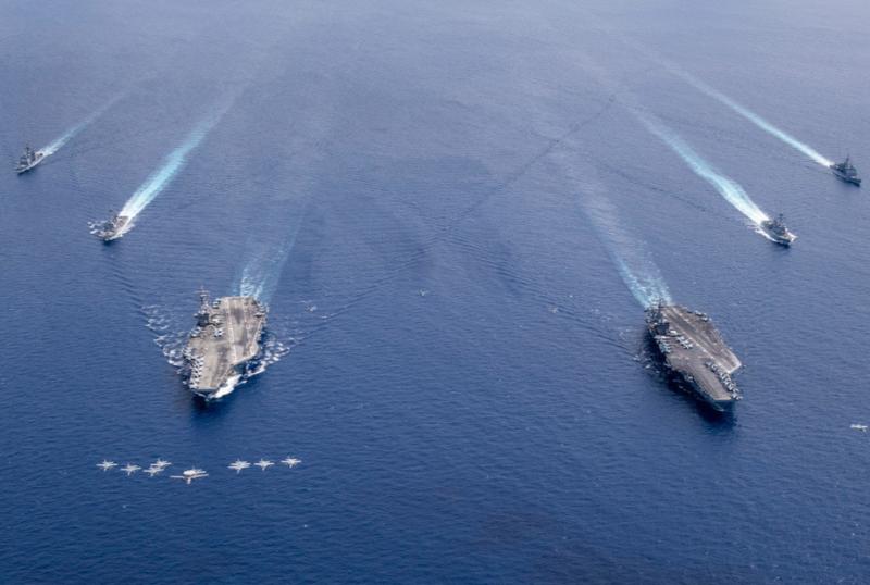 """La armada de EE.UU. realiza una operación de """"libertad de navegación"""" en el Caribe para desafiar el """"excesivo reclamo marítimo de Venezuela"""