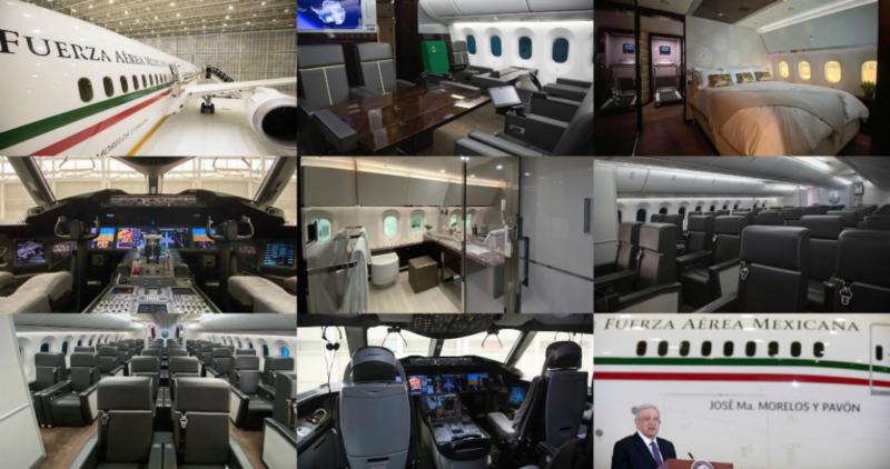 Video: Oficina con caminadora, 2 cocinetas, lujo, excesos: exhiben por dentro el avión presidencial. Sedena: más de 408 millones de pesos en gastos de operación de la nave