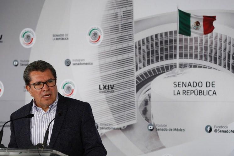 Debe abrogarse la reforma energética si se demuestra que hubo sobornos a legisladores para aprobarla, destaca el senador Ricardo Monreal
