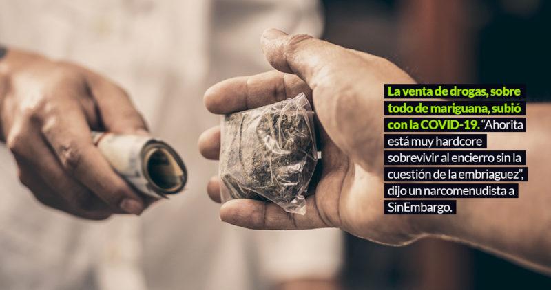 La reclusión y la soledad por la COVID-19 impulsaron la venta de droga al 200%, afirma menudista