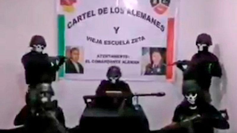 """Videos: """"O se alinean o se mueren"""": El cártel mexicano de Los Alemanes difunde un video con graves amenazas a grupos rivales y a las autoridades"""
