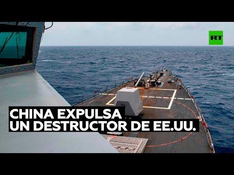Videos: El Ejército chino expulsó un destructor de EU de aguas cercanas a las islas Paracelso en el mar de China Meridional