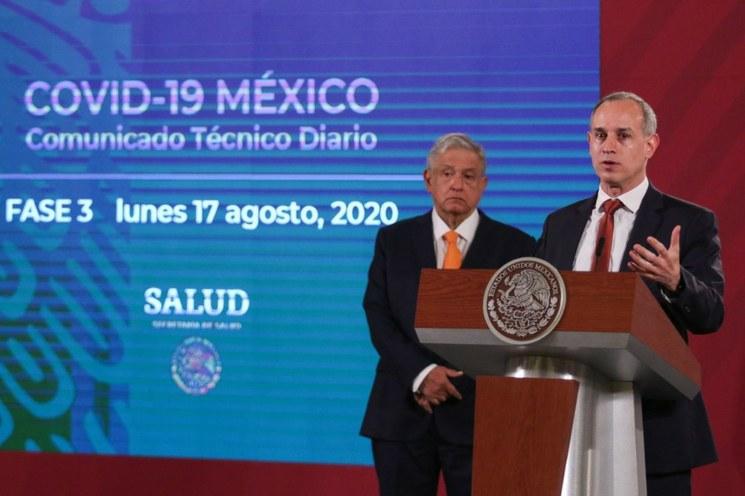 Pandemia, en clara fase de descenso en México: López-Gatell . Aunque en la mayor parte del país bajan contagios y muertes, pide no relajar medidas de sana distancia