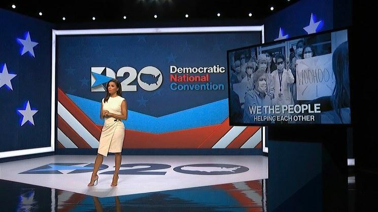 Abre el show en la Convención Nacional Demócrata. Piden más atención al pueblo latino