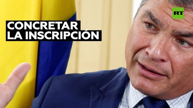 """Video: Rafael Correa, sobre su candidatura a la Vicepresidencia de Ecuador: """"Aspiro a rescatar a mi país de la tragedia que está viviendo"""""""