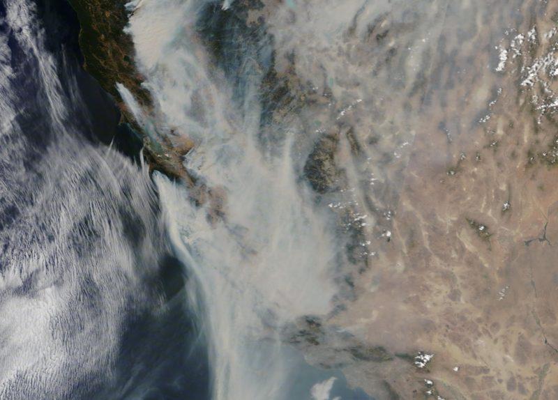 Insalubre, dañino para la salud, el aire del Area de la Bahía por humo de incendios y fuertes vientos