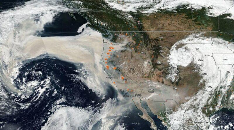 Satélites muestran que humo de fuegos en oeste de EU llegan a Europa