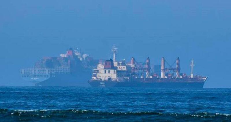 Un buque abandonado con combustible y minerales amenaza al medio ambiente en Ensenada, BC