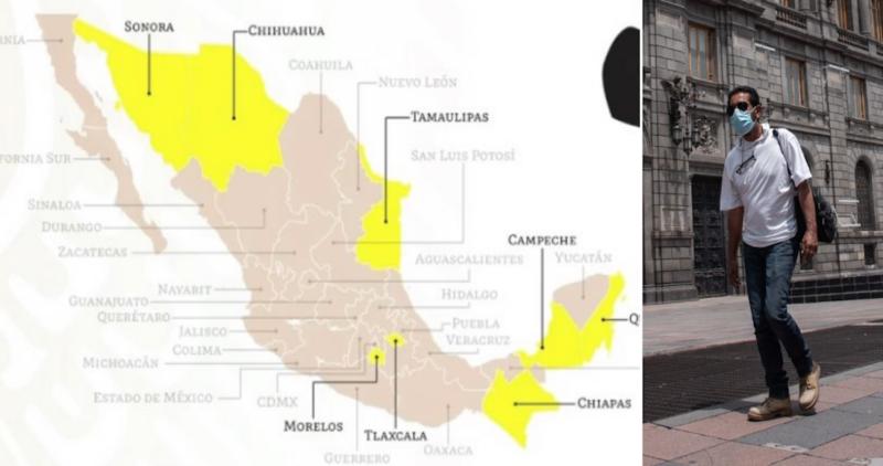 México deja atrás al Semáforo Rojo: 8 estados estarán en color amarillo; 24 en naranja (MAPA)