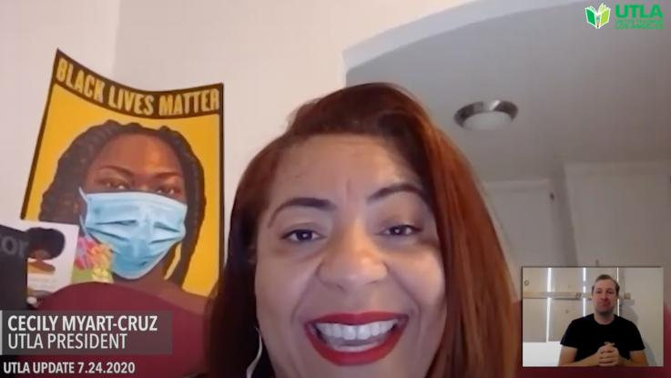 """La lideresa del Sindicato de Maestros, Cecily Myart-Cruz, convoca al pueblo trabajador a unirse como nunca para sacar de la Casa Blanca a Trump, """"peligroso e inmoral"""""""