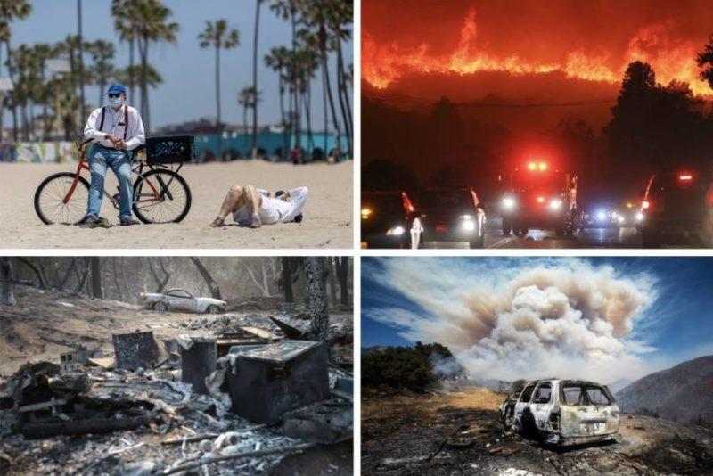 Al mismo tiempo en el Golden State: pandemia, apagones, calores inusuales, desempleo, evacuaciones tumultuarias y más